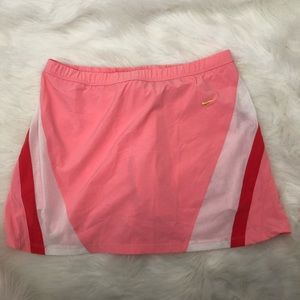 Nike Pink Red Tennis Skirt with Attached Shorts